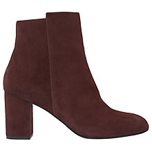 Buy Mint Velvet Livvy Block Heeled Ankle Boots, Dark Red Online at johnlewis.com