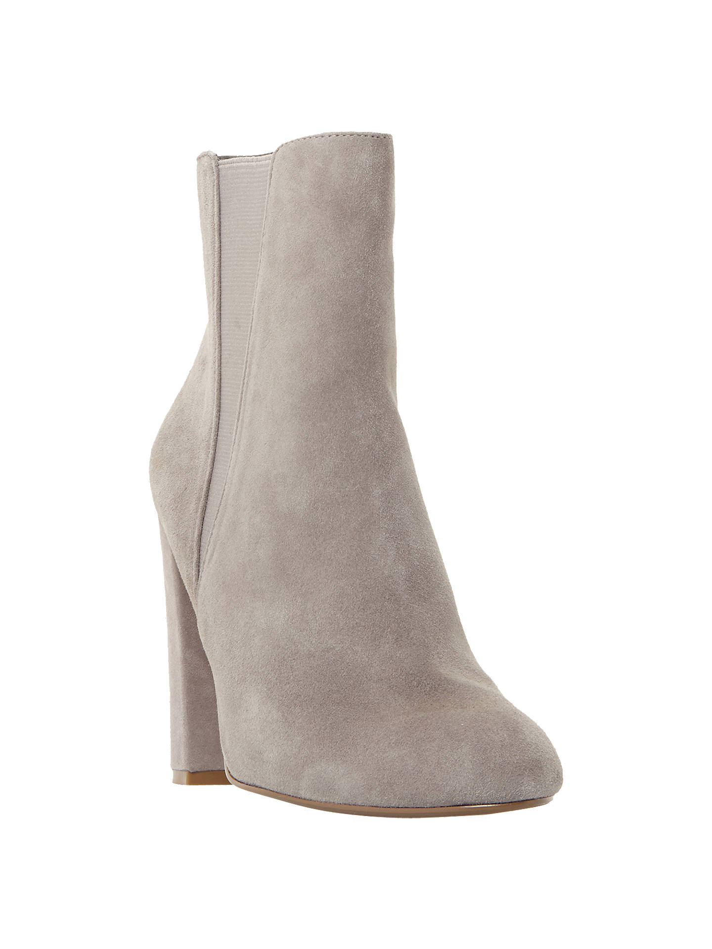 227559149f44f Buy Steve Madden Effect Block Heeled Ankle Boots, Grey Suede, 3 Online at  johnlewis ...
