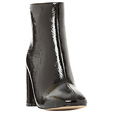 Buy Steve Madden Posed Block Heeled Ankle Boots, Black Online at johnlewis.com