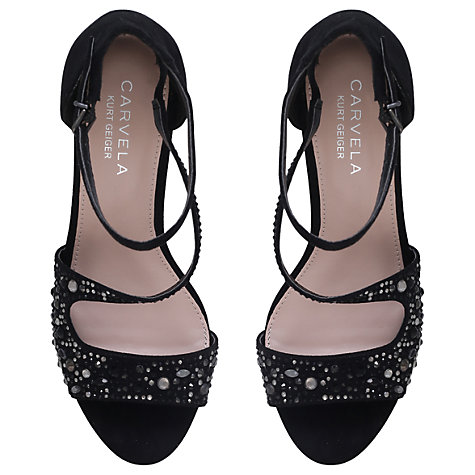 Buy Carvela Keo Asymmetric Embellished Sandals Online at johnlewis.com