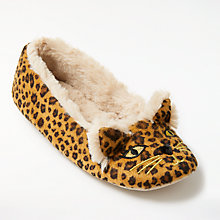 Buy John Lewis Leopard Ballet Slippers, Leopard Online at johnlewis.com