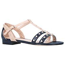 Buy Carvela Soula Stud Embellished Sandals, Navy Online at johnlewis.com