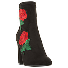 Buy Steve Madden Edition Floral Sock Ankle Boots, Black Online at johnlewis.com