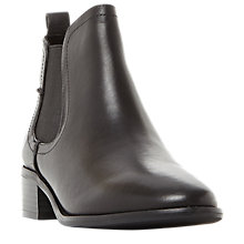 Buy Steve Madden Dicey Ankle Chelsea Boots, Black Leather Online at johnlewis.com