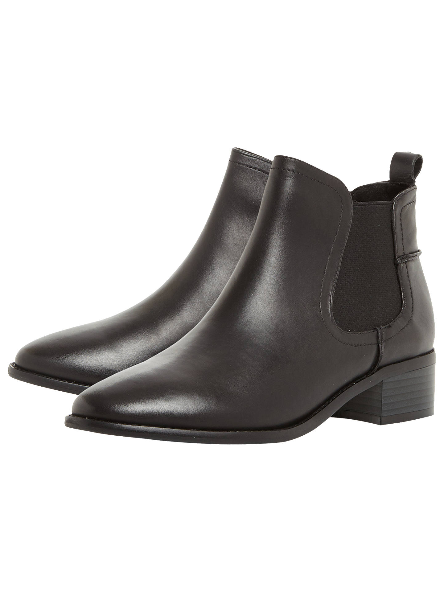 130bd05f9df Steve Madden Dicey Ankle Chelsea Boots, Black Leather at John Lewis ...