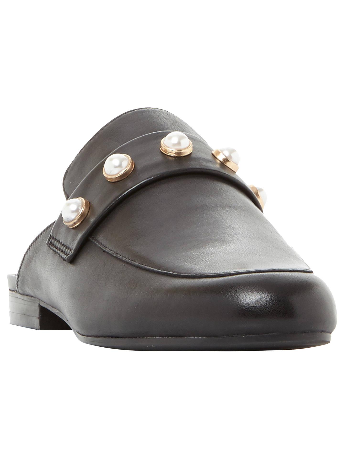 043434b488d Steve Madden Kandi-P Embellished Mule Loafers, Black at John Lewis ...