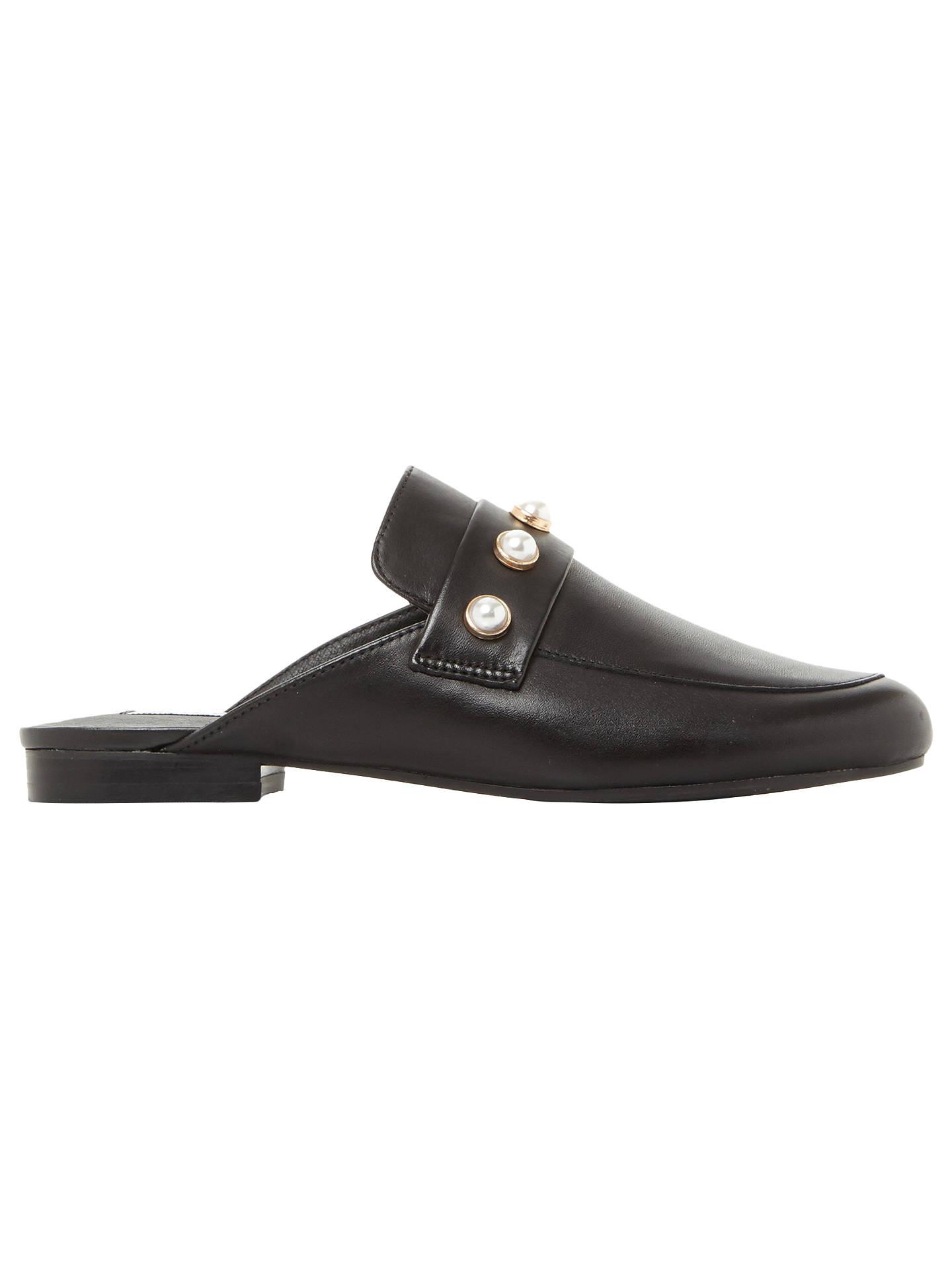 029e39e4142 Steve Madden Kandi-P Embellished Mule Loafers, Black at John Lewis ...