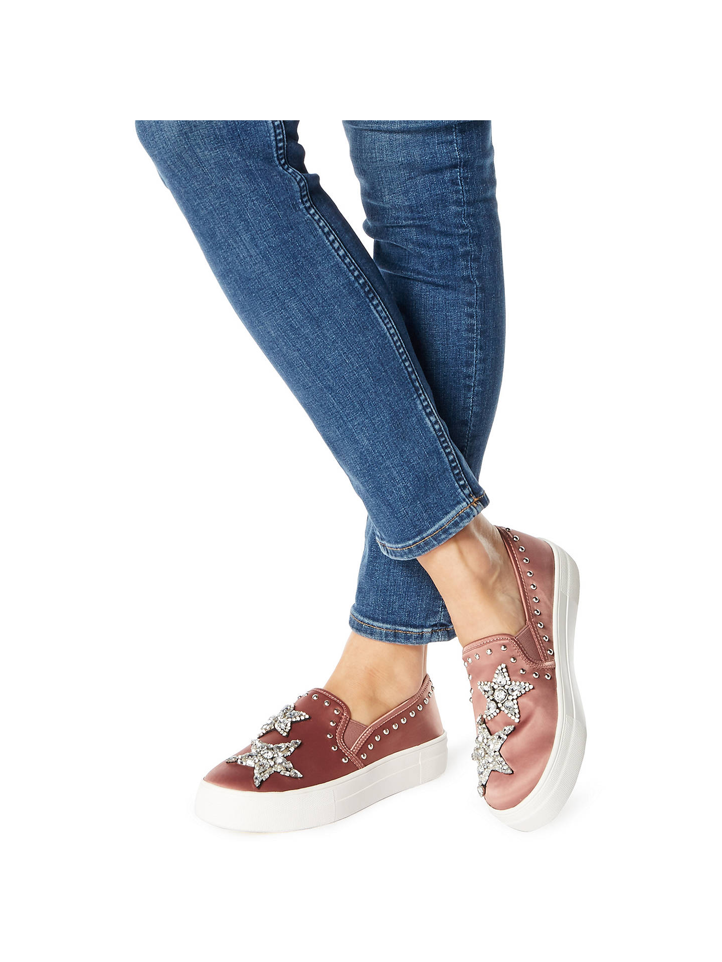 a93134be905 Steve Madden Pluto Embellished Flatform Trainers at John Lewis ...