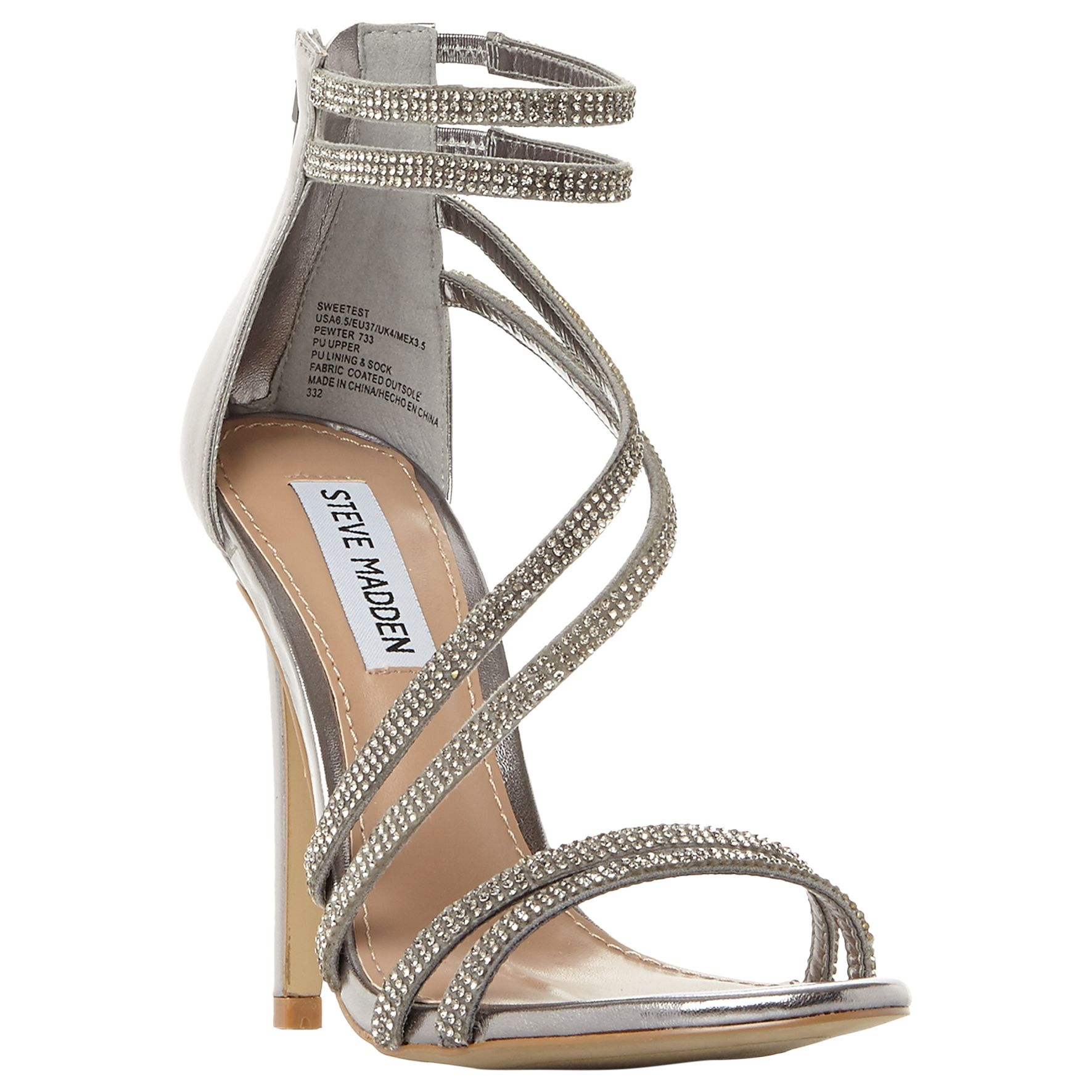 b98627a3400 Steve Madden Sweetest Multi Strap Sandals at John Lewis & Partners