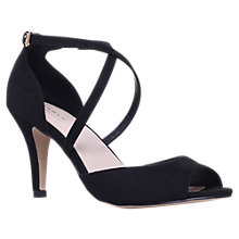 Buy Carvela Koko Cross Strap Heeled Sandals, Black Online at johnlewis.com
