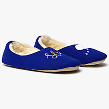 Buy John Lewis Sleep Cosy Slippers, Navy Online at johnlewis.com