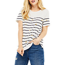 Buy Oasis Glitter Flamingo Stripe T-Shirt, Multi Online at johnlewis.com