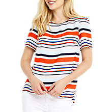 Buy Oasis Bar Code Stripe T-Shirt, Multi Online at johnlewis.com