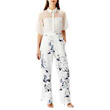 Buy Coast Amber Printed Trousers, White/Multi Online at johnlewis.com
