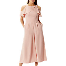 Buy Coast Krissi Cold Shoulder Waterfall Jumpsuit, Blush Online at johnlewis.com