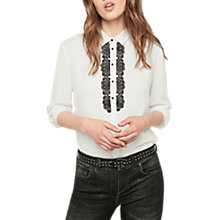 Buy Gerard Darel Barry Blouse, White/Black Online at johnlewis.com
