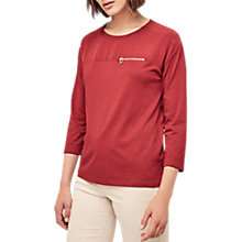 Buy Gerard Darel Ursulines Cotton Blend T-Shirt, Red Online at johnlewis.com