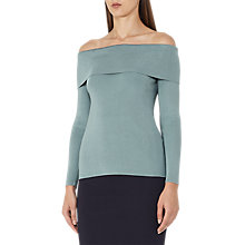 Buy Reiss Ximena Off Shoulder Jumper, Orion Blue Online at johnlewis.com
