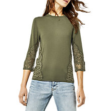 Buy Warehouse Lace Side Jumper Online at johnlewis.com