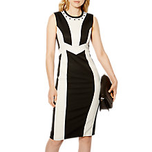 Buy Karen Millen Tailored Dress, Black/White Online at johnlewis.com
