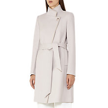 Buy Reiss Hetty Belted Wrap Front Coat, Tiramisu Online at johnlewis.com