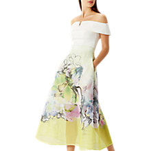 Buy Coast Daisy Mesh Midi Skirt, Lime/Multi Online at johnlewis.com