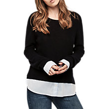 Buy Gerard Darel Lia Undershirt Look Jumper, Blue/White Online at johnlewis.com
