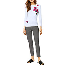 Buy Warehouse Delia Floral Jumper, Cream/Pink Online at johnlewis.com