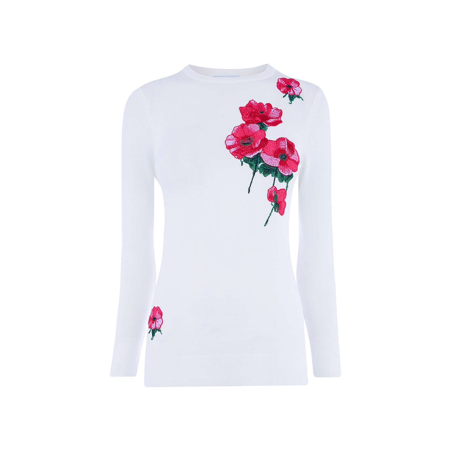 BuyWarehouse Delia Floral Jumper, Cream/Pink, 6 Online at johnlewis.com