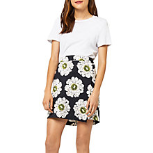 Buy Warehouse Melody Floral Wrap Skirt, Black/Multi Online at johnlewis.com