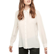 Buy Gerard Darel Baume Silk Blouse, Ecru Online at johnlewis.com