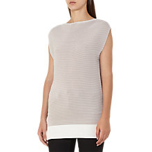 Buy Reiss Lucinda Ripple Stitch Top, Nude Online at johnlewis.com