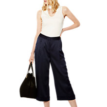 Buy Karen Millen Wide Leg Trousers, Navy Online at johnlewis.com