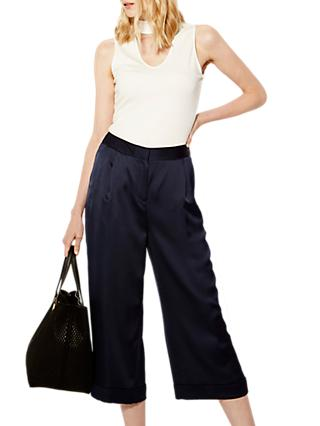 Karen Millen Wide Leg Trousers, Navy