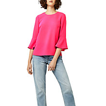 Buy Warehouse Fluted Sleeve Crinkle Top Online at johnlewis.com