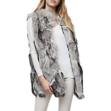 Buy Reiss Krista Faux Fur Gilet, Multi/Grey Online at johnlewis.com