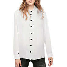 Buy Gerard Darel Balth Blouse, White/Black Online at johnlewis.com