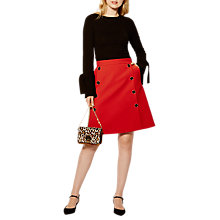 Buy Karen Millen Modern Tailored Collection Skirt, Red Online at johnlewis.com