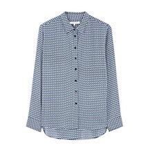 Buy Gerard Darel Patterned Silk Shirt, Blue Online at johnlewis.com