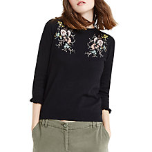 Buy Oasis Shipwrecked Floral Knit, Black Online at johnlewis.com