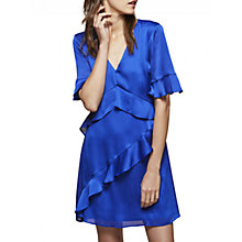 Buy Miss Selfridge Frill Front Dress, Cobalt Online at johnlewis.com
