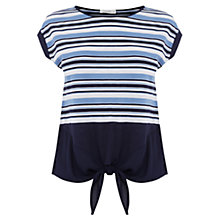 Buy Oasis Bethany Tie Front T-Shirt, Multi Online at johnlewis.com