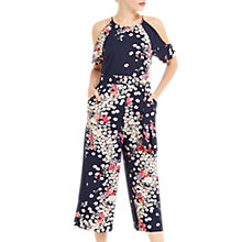 Buy Oasis Kimono Cropped Jumpsuit, Multi Blue Online at johnlewis.com