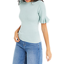 Buy Oasis Flare Cuff Jumper, Teal Green Online at johnlewis.com