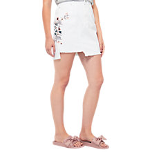 Buy Miss Selfridge Embroidered Skirt, White Online at johnlewis.com