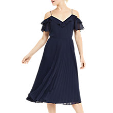 Buy Oasis Cold Shoulder Midi Dress, Navy Online at johnlewis.com