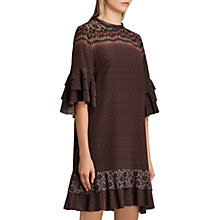 Buy AllSaints Rayen Anokhi Dress, Burgundy/Multi Online at johnlewis.com