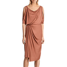 Buy AllSaints Sina Short Sleeve Dress, Masala Red Online at johnlewis.com