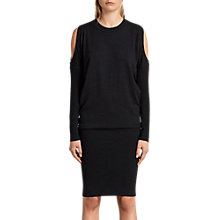 Buy AllSaints Cinder Reya Dress, Black Online at johnlewis.com