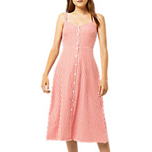 Buy Warehouse Gingham Dress, Red Pattern Online at johnlewis.com